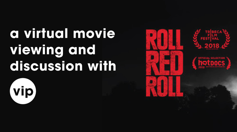 poster for roll red roll discussion event